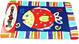 Tropical Reef Smiling Fish JellyBean Accent Rug