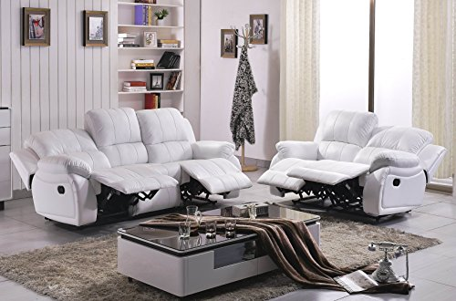 Voll-Leder Couch Sofa-Garnitur-Relaxsessel Polstermöbel-Fernsehsessel 5129-3+2-W