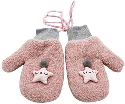 PXX Handschoenen 3D Cartoon Star Handschoenen Vrouwen Volledige Vinger Pluizig Pluche Meisje Leuke Warme Halter Handschoenen Winter Handschoenen