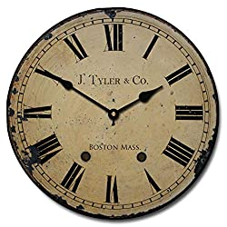 1910 English Longcase Wall Clock, 8 Sizes, Great for Bedroom, Living Room, & Kitchen, Whisper Quiet, Handmade in The USA
