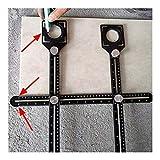 LHFSM Winkelmesslineal, Multifunktions Einstellbarer Werkzeugmauerwerk Glas festen Stanzwinkelmesslineal Tile Artifact Vorlage