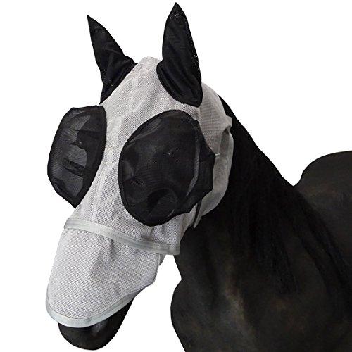 Leberna Mesh Fliegen Maske Mit Ohren Nase UV Schutz Voll F¨¹r Warmblut