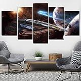 LCCWLH Leinwanddrucke 5 Stück Mass Effect Normandie SR 2