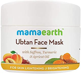 Ubtan Face Pack for Fairness, Tanning & Glowing Skin with Saffron, Turmeric & Apricot Oil, 100 ml