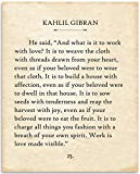 Kahlil Gibran - What Is It To Work With Love - 11x14 Unframed Typography Book Page Print - Great Inspirational and Motivational Gift and Home and Office Decor Under $15