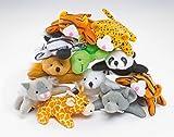 Baker Ross Animales de Peluche en Miniatura Pequeños Juguetes Relleno de Piñata Divertidos Premios y Regalos de Fiestas Infantiles (Pack de 1) (EF613)