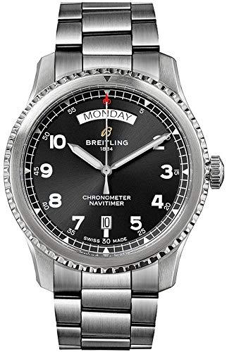 Breitling Navitimer 8 orologio automatico giorno e data 41 quadrante nero da uomo A45330101B1A1