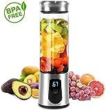 QIYUE Portable Blender, multifunzionale succo di viaggio elettrico Cup con USB ricaricabile piccolo frullatore for frullati e frullati (FDA BPA Free)