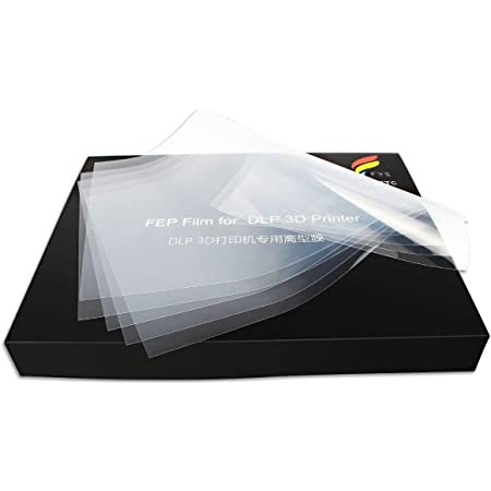 5X Release Sheet for LCD 3D Curing Printer 140x200x0.15-0.2mm Transparent Separator Film w//High UV Transmittance Strength /& Smooth Surface FEP Film