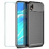 Wanxideng - Funda para Huawei Y5 2019 + Protectore de Pantalla in Cristal Templado, [Textura de...