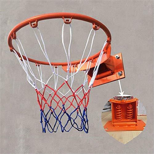 CXY-JOEL Adult Basketball Hoop Doppelfeder Flex Felge Ziel Fit Innen- Und Außenrückenbrett Basketball Felge 45Cm,Ein