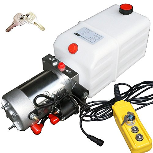 Hydraulikaggregat, Hydraulikpumpe 12 V 180 bar 2000 Watt mit 7 Liter Tank und abschließbare Kabelfernbedienung