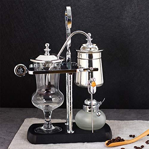 Kaffeemaschinen Belgische Siphon-Kaffeemaschine Belgium Balance Siphon-Kaffeemaschine Doppelsäulenlampe Mit Alkohol, Klassisch (golden)