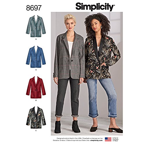 Simplicity Creative Patterns Oversize-Blazer für Damen