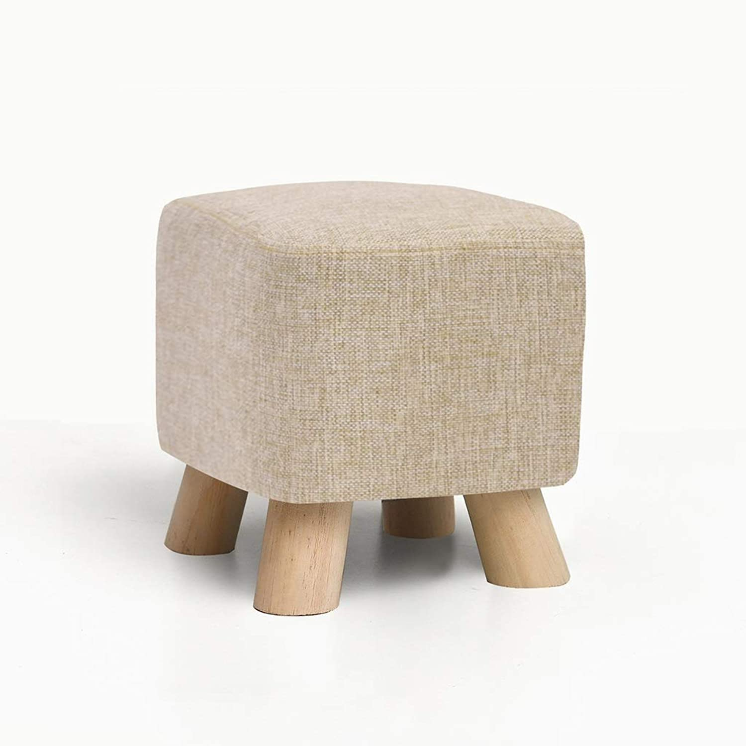 CXQ Modern Fashion Pine Stool Creative Square Fabric Stool Sofa Stool Home Low Stool shoes Bench (color   Green)