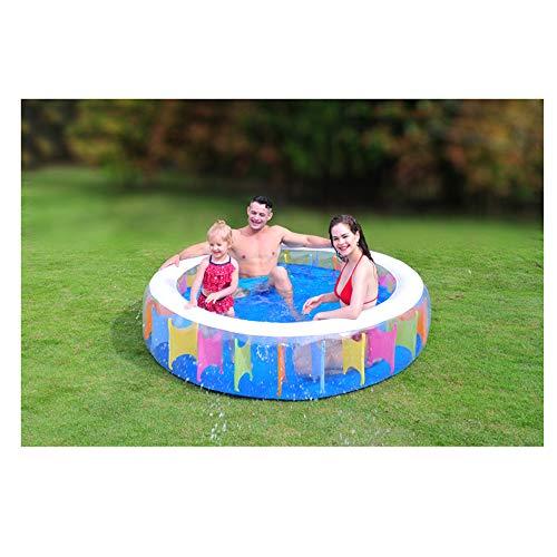 LWJDM Familie Aufblasbarer Swimmingpool, Rund Regenbogen Planschbecken Für Kinder, Erwachsene, Outdoor, Garten, Hinterhof, Sommer-Wasser-Party