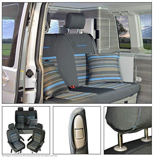 INKA - Juego de fundas de asiento delantero y trasero para Volkswagen T6 T5 California Ocean - MY 2014 en adelante