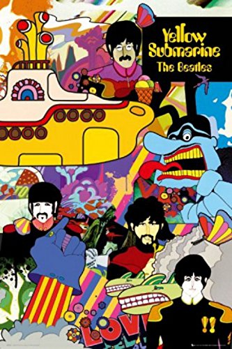 1art1 The Beatles Poster - Yellow Submarine (36 x 24 inches)