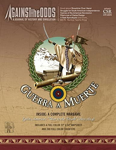 ATO  Against the Odds Magazine  23 with Guerra a Muerte, War to the Death 1810-24 Board Game