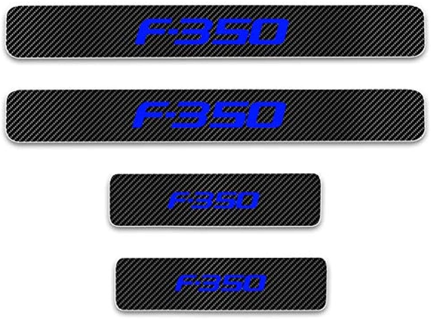 Car Door Sill Welcome Pedal Decoration Stickers for Ford F350 F350 Car Door Sill Predector 4D Carbon Fiber Vinyl Sticker 4Pcs  (color Name  blueee)