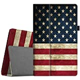 Fintie Folio Case for All-New Amazon Fire HD 10 Tablet (Compatible with 7th and 9th Generations, 2017 and 2019 Releases) - Premium PU Leather Slim Fit Stand Cover with Auto Wake/Sleep, US Flag