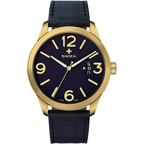 Swiza, orologio da polso MAGNUS, ETA F07.111, con vetro zaffiro, acciaio...