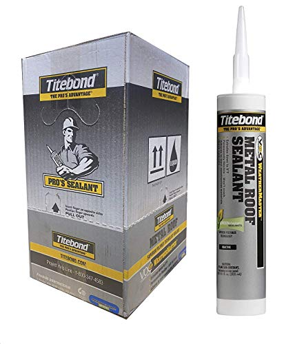 Titebond 61111 WeatherMaster Metal Roof Sealant Neutral Cure Silicone, Translucent