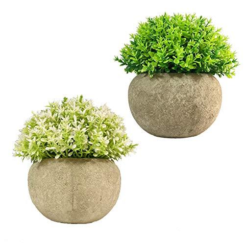 Mini Plantas Artificiales Plantas Artificiales Plantas Decorativas para Granja en Maceta, para...