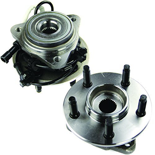 MOTORMAN 515003 Front ABS Wheel Hub and Bearing Set - Both Left and Right - Pair of 2 (1999 Ford Explorer 4x4 Front Wheel Bearing Replacement)