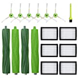 Replacement for iRobot Roomba i7 i7+ i7 Plus E5 E6 E7 Parts Kit - Replenishement Vacuum Cleaner Accessories with 2 Set Multi-Surface Rubber Brushes, 6PCS Hepa Filters, 6PCS Edge-Sweeping Side Brushes