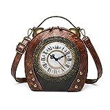 Mochila de cuero vintage hecha a mano para mujer, bolso de viaje de moda para mujer, bolso de mensajero (color marrón
