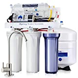 iSpring RCC7P 5-Stage Maximum Performance Reverse Osmosis Drinking Water Filtration System with Booster