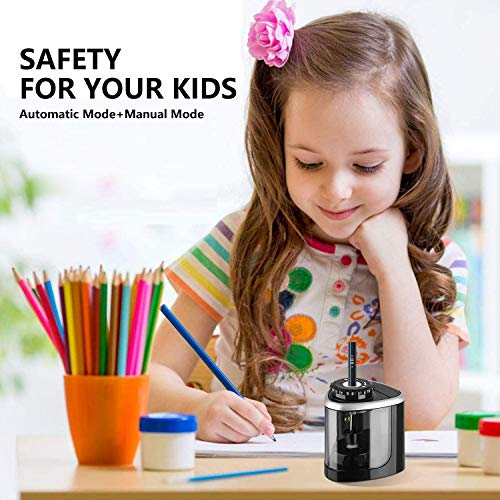 Electric Pencil Sharpener,Portable Battery Operated Pencil Sharpener with battery for Colored and No. 2, High-Speed Automatic pencil sharpener for Home Office School Classroom Adults and Kids(6-8mm) Photo #7
