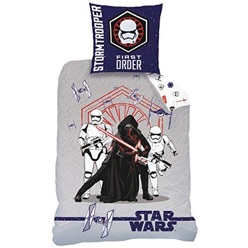 Funda de edredón y funda de almohada 100% algodón Star Wars Attack, 140x 200cm