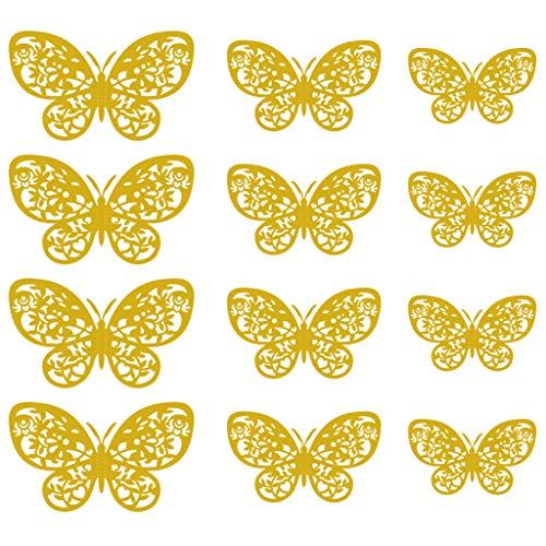 HINK Papillon décoration 3D Creux Papillon Stickers muraux décor à la Maison Carton Papillon Stickers muraux Maison et Jardin décor à la Maison