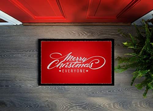 Floorcover Design Weihnachts Fußmatte Fußabstreifer Christmas 40x60x0,5 cm rutschfest innen (Merry Christmas Everyone)