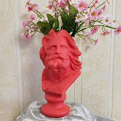 YANJ Home Simplicity Nordic David Head Retratos Jarrón Escultura Figura Decorativa Estatua Flor Receptáculo Planta en maceta Decoración Clásica 2, Lorenzo de Medic 2