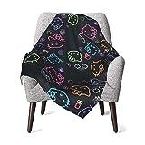 DNBCJJ - Manta para bebé, diseño de Hello Kitty, color negro