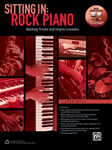 Sitting In: Rock Piano: Backing Tracks and Improv Lessons (incl. Online Audio & Software): Backing Tracks and Improv Lessons, Book & Online Audio/Software