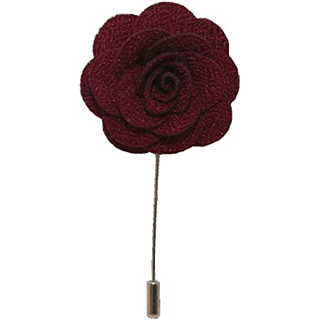 Handmade Flower/Rose Lapel Pin, Buttonhole, Corsage, Boutonniere for Suit, Tuxedo or Jacket