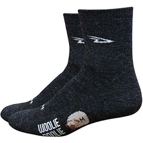 DEFEET Men's Woolie Boolie 4-Inch Sock, Charcoal, Large