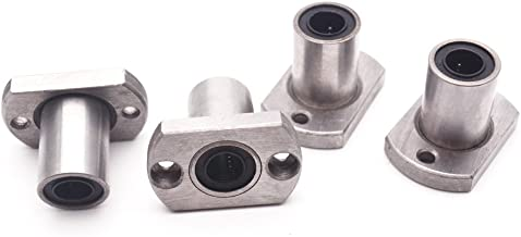 Sydien 8mm/0.32inch Inner Diameter Flanged Mounted Linear Motion Ball Bearing 4Pcs