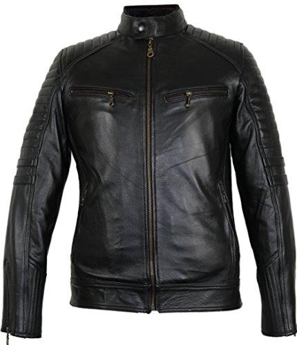 Motorrad Lederjacke aus robustem Rindleder (L) - 2