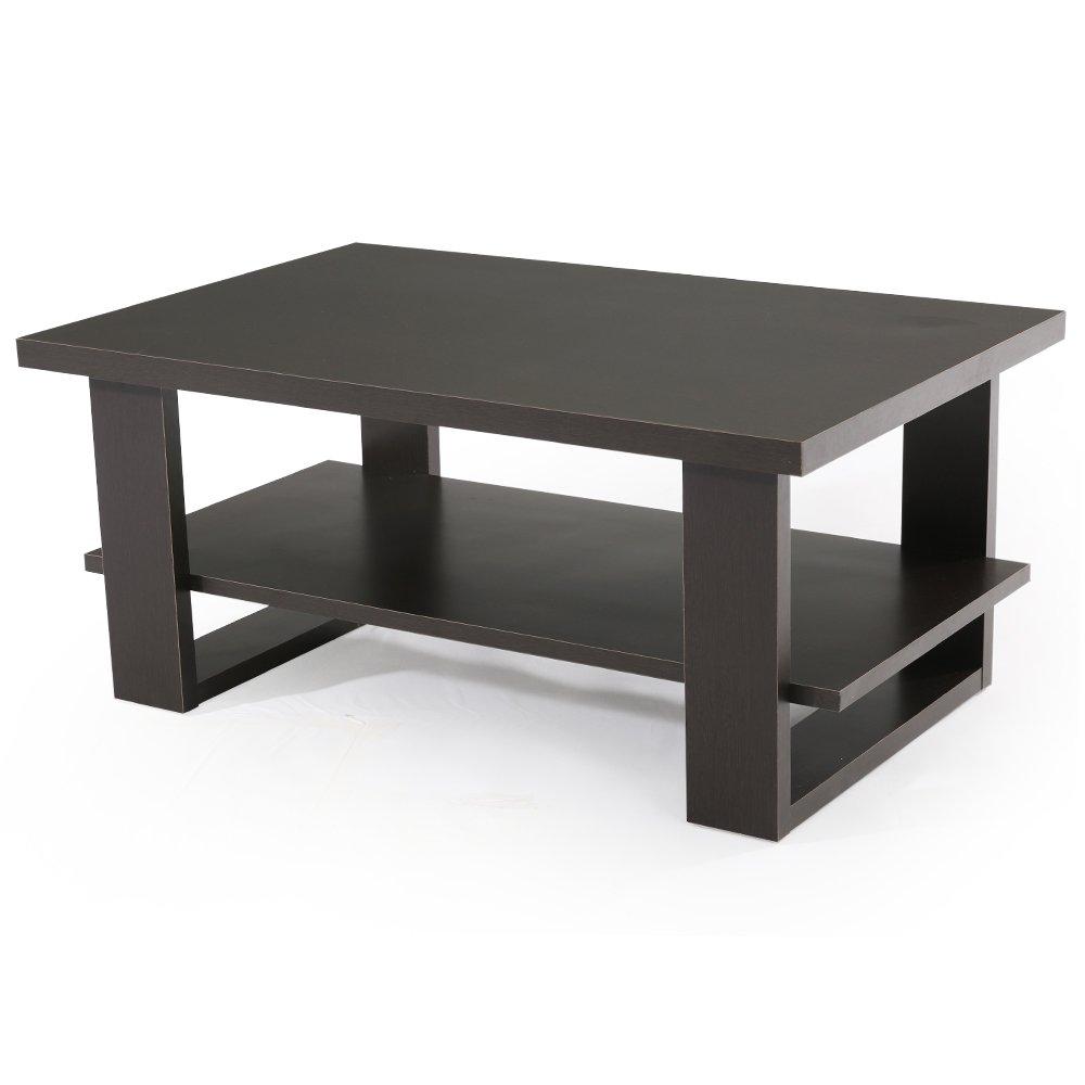 ハドルスペクトラム織機LOWYA (ロウヤ) テーブル リビングテーブル センターテーブル 木製 オープン収納 スクエアデザイン ブラウン おしゃれ 新生活