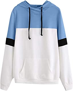 Hoodies for Teen Girls, Corriee Women Casual Splice Warm Hooded Jacket Coat Fall Letter Print Cute Sweatshirts Pullover