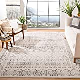 Safavieh Tulum Collection TUL268A Moroccan Boho Distressed Non-Shedding Stain Resistant Living Room Bedroom Area Rug, 8' x 10', Ivory / Grey
