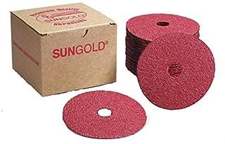 Sungold Abrasives 16902 4-1/2-Inch x 7/8-Inch Center Hole Aluminum Oxide Fiber Disc, 25-Pack, 36 Grit