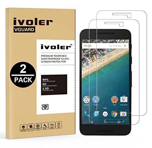 iVoler [2 Pack] Pellicola Vetro Temperato per LG Google Nexus 5X, Pellicola Protettiva Protezione per Schermo per LG Google Nexus 5X