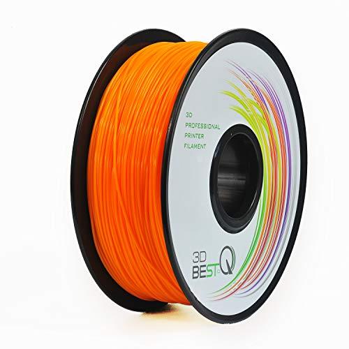 3D BEST-Q PLA 1.75mm Orange 3D Printer Filament, Dimensional Accuracy +/- 0.03 mm, 1KG Spool, Orange