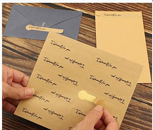 20 Stücke Versiegeln Porto Umschlag Versiegeln Aufkleber Lange Geschenkbox Verpackung Box Versiegeln Aufkleber Einfach Zu Zerreißen Einfache Kreative